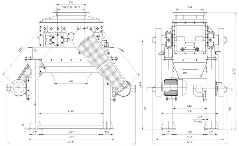 Принцип действия валковая дробилка удв-800 дробилка пвх екатеринбург