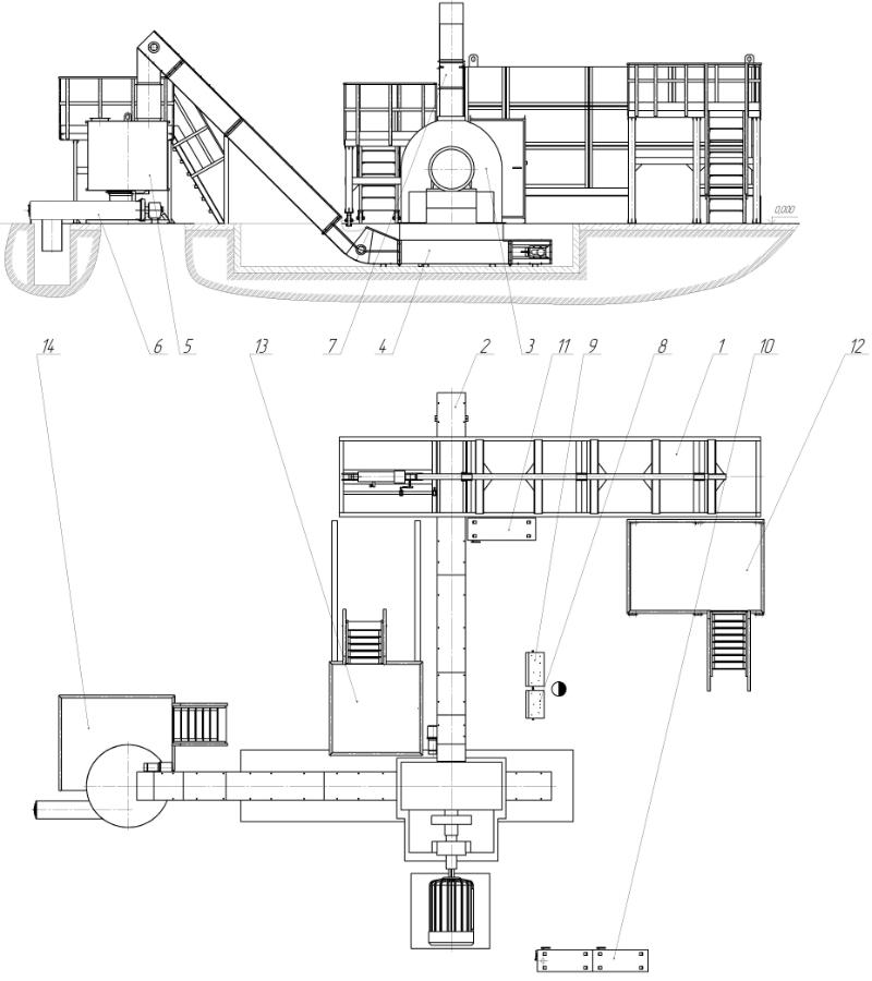 7 - магнитный сепаратор;